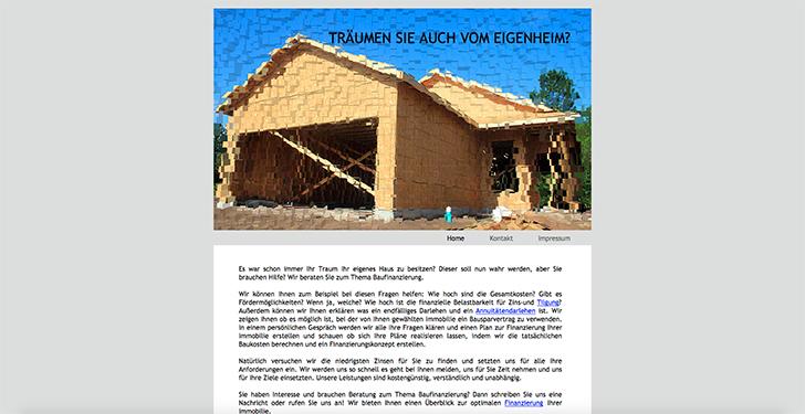 Baufinanzierung Screenshot